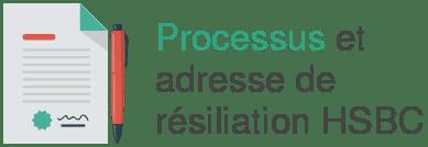 processus adresse resiliation hsbc