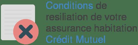 conditions resiliation assurance habitation credit mutuel