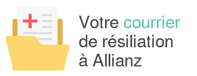 courrier resiliation allianz