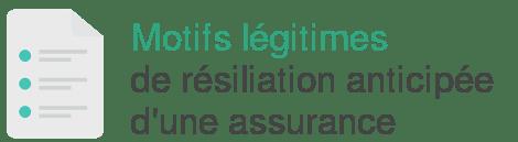 motif legitime resiliation anticipee assurance