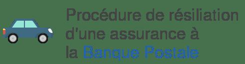 procedure resiliation assurance banque postale