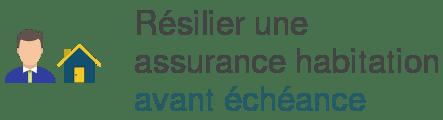 resilier assurance habitation avant echeance