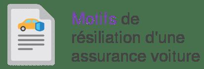 motif resiliation assurance auto