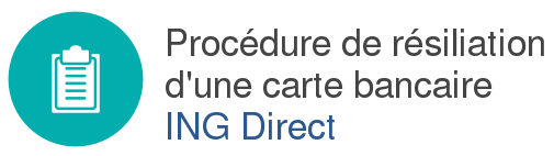 resiliation carte ing direct