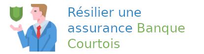 résilier assurance banque courtois