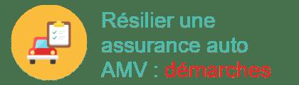 démarches résilier assurance auto amv